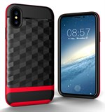 Nice Cube Hard Case til iPhone X - Rød