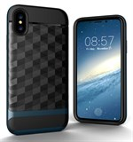 Nice Cube Hard Case til iPhone X - Mørkeblå