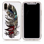 Soft Print Cover i TPU til iPhone X - Feather
