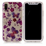 Soft Print Cover i TPU til iPhone X - Butterflies