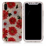Soft Print Cover i TPU til iPhone X - Gerbera