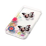 Soft Print Cover i TPU til iPhone X - Flower and Butterflies