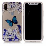 Soft Print Cover i TPU til iPhone X  - Blue Butterfly