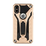 New Future Hard Case m/ Stander til iPhone X - Guld