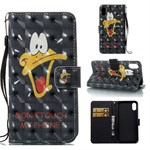 iPhone X Cover Color Painted Wallet Style 3D - Cute Duck