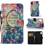 iPhone X Cover Color Painted Wallet Style 3D - Dreaming in The Sky