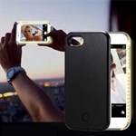 LED-lys Cover til iPhone 8 / iPhone 7 - Sort