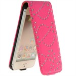 Diamond klap etui iPhone 5/5S/SE - Pink