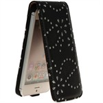 Diamond klap etui iPhone 5/5S/SE - Sort
