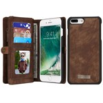 Luxury CaseMe Flap Etui til iPhone 7 - Brun