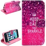 Smart stander etui iPhone 5/5S/SE - Keep calm and sparkle