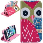 Smart stander etui iPhone 5/5S/SE - Big owl
