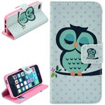 Smart stander etui iPhone 5/5S/SE - Sweet owl