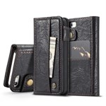 CaseMe  Luxury Etui med Cover - iPhone 5/5S/SE - Sort