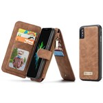 Luxury CaseMe Flap pung iPhone X - Brun