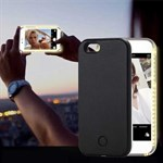 LED-lys Cover til iPhone 6 Plus / iPhone 6S Plus - Sort