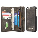 Luxury CaseMe Flap Etui til iPhone 6/6S - Sort