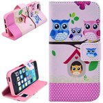 Smart stander etui iPhone 5/5S/SE - Pink party