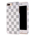 Chess mate plastic cover iPhone 7 Plus - Hvid / grå