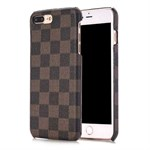 Chess mate plastic cover iPhone 7 Plus - Brun/Sort