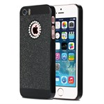 Glimmer Plast cover iPhone 5/5S/SE - Sort