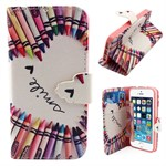 Funny art Etui  m/ silikone cover til iPhone 5/5S/SE -