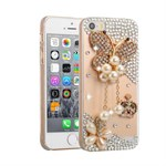 Diamond bling cover SE/5S/5 - Pearl Butterfly