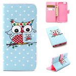 Cute PU etui iPhone 6/6S - Single owl