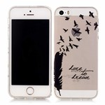 Designers dream silikone cover iPhone 5/5S/SE - Sort fjer