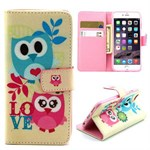 Cute PU etui iPhone 6/6S - Love owls