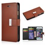 Mercury wallet etui iPhone 6/6S - Brun